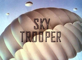 Screenshots from the 1942 Disney cartoon Sky Trooper