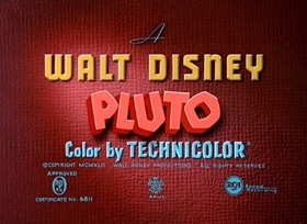 Screenshots from the 1942 Disney cartoon Pluto at the Zoo