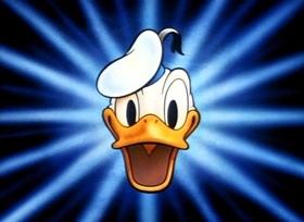 Screenshots from the 1942 Disney cartoon Bellboy Donald
