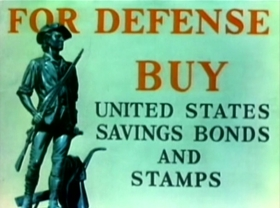 Screenshots from the 1942 Warner Brothers cartoon Any Bonds Today?