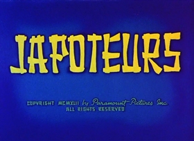 Screenshots from the 1942 Paramount / Famous Studios cartoon Japoteurs