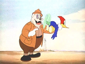 Screenshots from the 1942 Walter Lantz cartoon Ace in the Hole