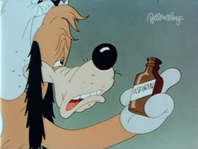 Screenshots from the 1942 Warner Brothers cartoon Ding Dog Daddy