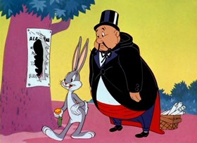 Screenshots from the 1942 Warner Brothers cartoon Case of the Missing Hare