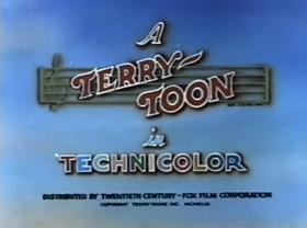 Screenshots from the 1943 Terrytoons cartoon Shipyard Symphony