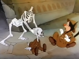 Screenshots from the 1943 Terrytoons cartoon Somewhere in Egypt