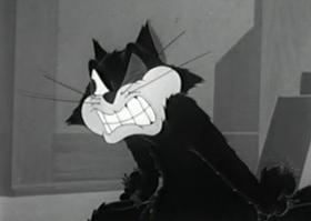 Screenshots from the 1943 Columbia cartoon Mass Mouse Meeting