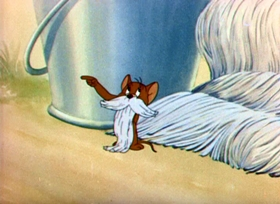 Screenshots from the 1943 MGM cartoon Sufferin