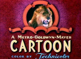 Screenshots from the 1943 MGM cartoon Dumb Hounded