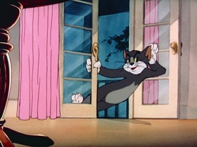 Screenshots from the 1943 MGM cartoon The Lonesome Mouse