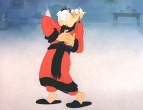 Screenshots from the 1943 MGM cartoon Who Killed Who?