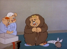 Screenshots from the 1943 MGM cartoon One Ham