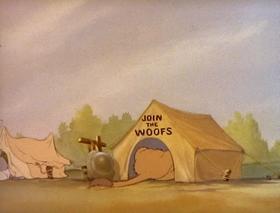 Screenshots from the 1943 MGM cartoon War Dogs