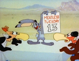 Screenshots from the 1943 MGM cartoon What