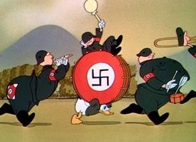 Screenshots from the 1943 Disney cartoon Der Fuehrer