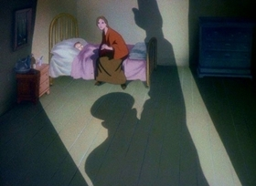 Screenshots from the 1943 Disney cartoon Education for Death
