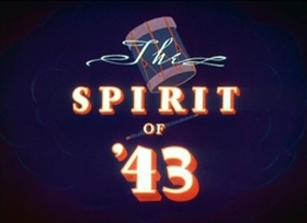 Screenshots from the 1943 Disney cartoon The Spirit of