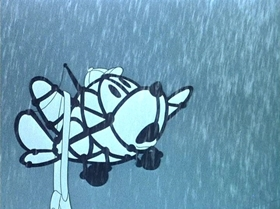 Screenshots from the 1943 Disney cartoon Pedro
