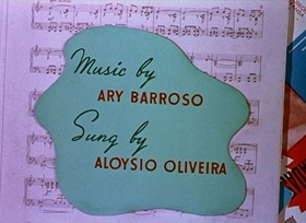 Screenshots from the 1943 Disney cartoon Aquarela do Brasil