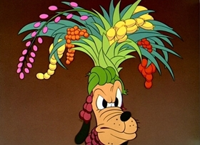 Screenshots from the 1943 Disney cartoon Pluto and the Armadillo