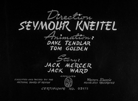 Screenshots from the 1943 Paramount / Famous Studios cartoon Ration for the Duration
