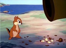 Screenshots from the 1943 Disney cartoon Private Pluto