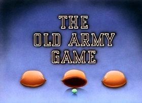 Screenshots from the 1943 Disney cartoon The Old Army Game