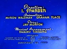 Screenshots from the 1943 Paramount / Famous Studios cartoon The Mummy Strikes