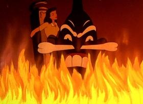Screenshots from the 1943 Paramount / Famous Studios cartoon Jungle Drums