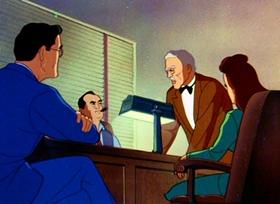 Screenshots from the 1943 Paramount / Famous Studios cartoon The Underground World