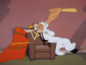Screenshots from the 1943 Paramount / Famous Studios cartoon The Marry-Go-Round