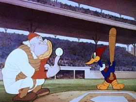 Screenshots from the 1943 Walter Lantz cartoon The Screwball