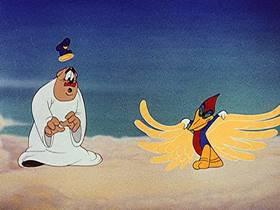 Screenshots from the 1943 Walter Lantz cartoon Ration Bored