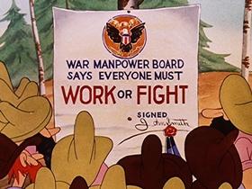 Screenshots from the 1943 Walter Lantz cartoon Pass the Biscuits Mirandy!