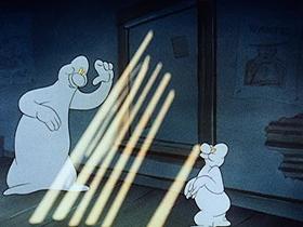 Screenshots from the 1943 Walter Lantz cartoon Boogie Woogie Man