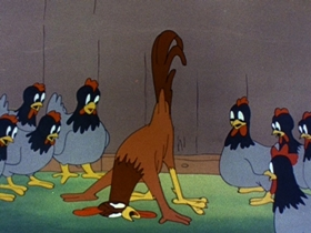 Screenshots from the 1943 Walter Lantz cartoon Meatless Tuesday