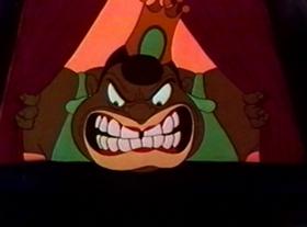 Screenshots from the 1943 Warner Brothers cartoon Coal Black and De Sebben Dwarfs