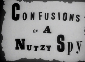 Screenshots from the 1943 Warner Brothers cartoon Confusions of a Nutzy Spy