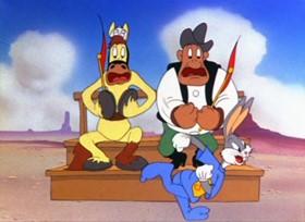 Screenshots from the 1943 Warner Bros. cartoon Super Rabbit