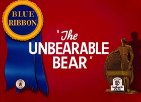 Screenshots from the 1943 Warner Brothers cartoon The Unbearable Bear