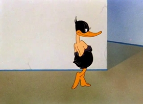 Screenshots from the 1943 Warner Brothers cartoon The Wise Quacking Duck