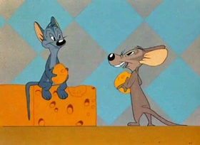 Screenshots from the 1943 Warner Brothers cartoon The Aristo Cat