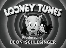 Screenshots from the 1943 Warner Brothers cartoon Porky Pig