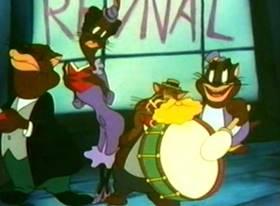 Screenshots from the 1943 Warner Bros. cartoon Tin Pan Alley Cats