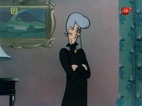 Screenshots from the 1943 Warner Bros. cartoon Hiss and Make Up