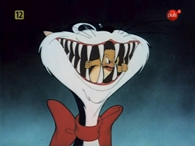 Screenshots from the 1943 Warner Brothers cartoon Hiss and Make Up