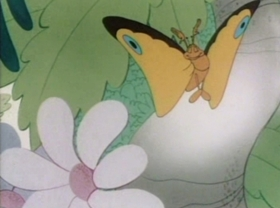 Screenshots from the 1943 Warner Brothers cartoon Inki and the Minah Bird