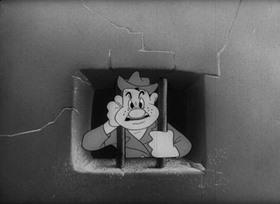 Screenshots from the 1943 Warner Brothers cartoon Coming Snafu