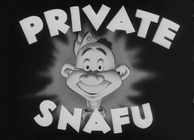 Screenshots from the 1943 Warner Brothers cartoon Gripes
