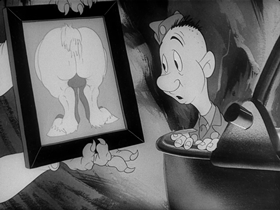 Screenshots from the 1943 Warner Brothers cartoon Spies